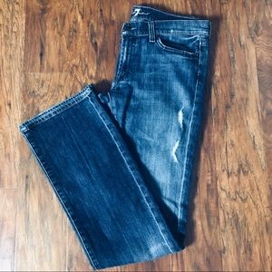 7 for all Mankind Distressed Bootcut Jeans Size 31